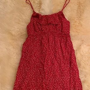 Oh Baby Motherhood red floral maternity dress Med